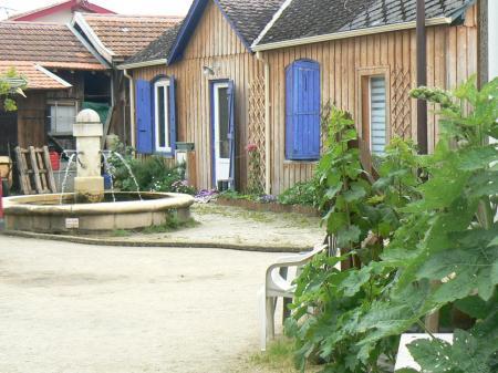 Le village de l'herbe au Cap Ferret