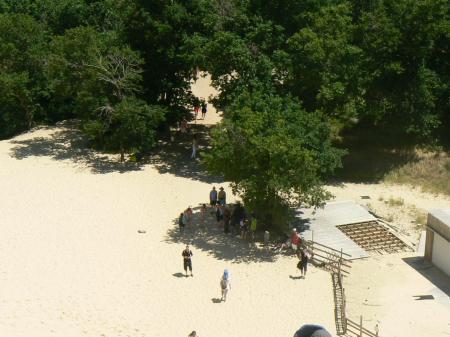 En escaladant la dune du Pilat